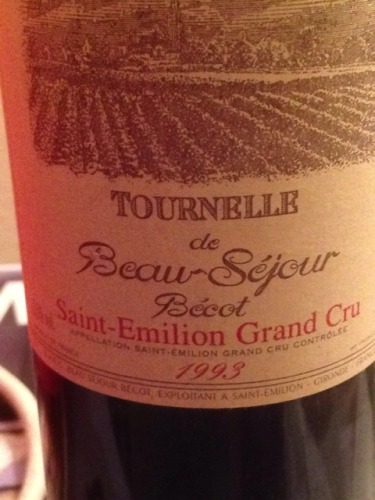 博塞贝戈庄园副牌干红Tournelle de Beau-Sejour Becot