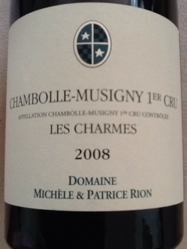 Domaine Patrice Rion Chambolle-Musigny 1er Cru Les Charmes