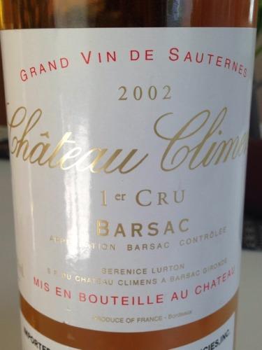 克里蒙酒庄贵腐甜白Château Climens Barsac