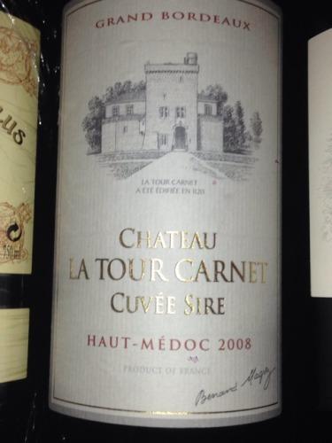 拉图嘉利酒庄副牌干红Chateau La Tour Carnet Cuvee Sire