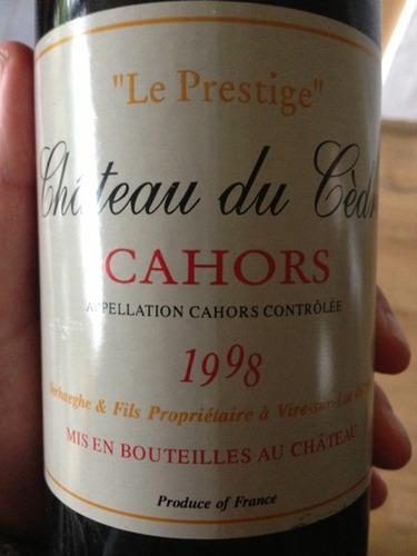Chateau du Cedre Le Prestige Cahors