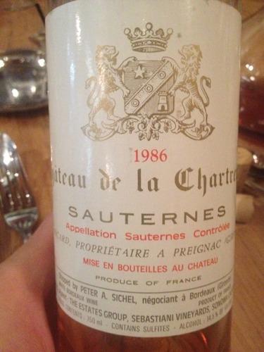 古岱酒庄副牌贵腐甜白Chartreuse de Coutet Sauternes