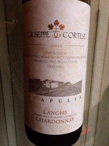 朱塞佩科特斯霞多丽干白Giuseppe Cortese Scapulin Langhe Chardonnay