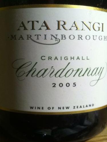 新天地克雷格霞多丽干白Ata Rangi Craighall Chardonnay