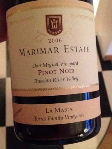 玛尔玛桃乐丝酒庄黑皮诺干红Marimar Estate Pinot Noir