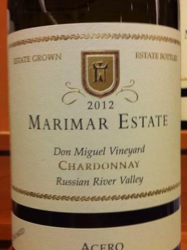 玛尔玛唐米格尔园霞多丽干红Marimar Estate Don Miguel Vineyard Chardonnay