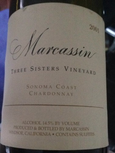 玛尔卡森三姐妹园霞多丽干白Marcassin Three Sisters Vineyard Chardonnay